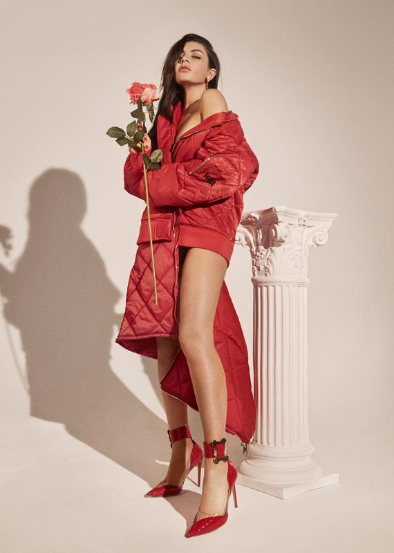 Charli XCX red high heels