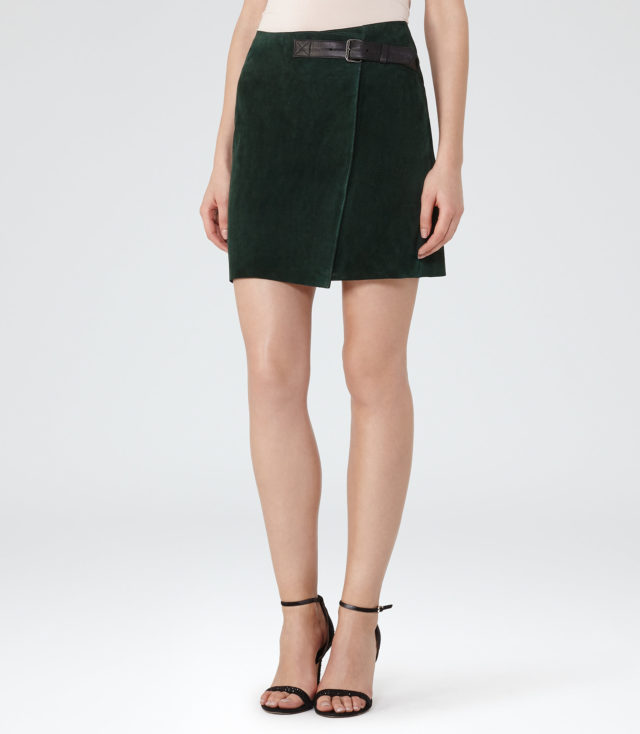 Chase Suede Mini Wrap Skirt