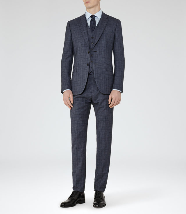 Crow Modern-Fit Check Suit