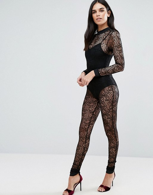 Love & Other Things Lace Catsuit
