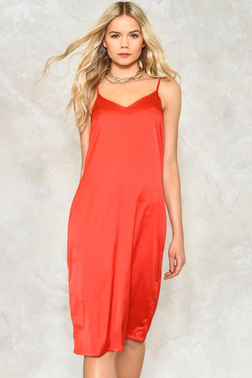 Love or Just a Game Satin Dress