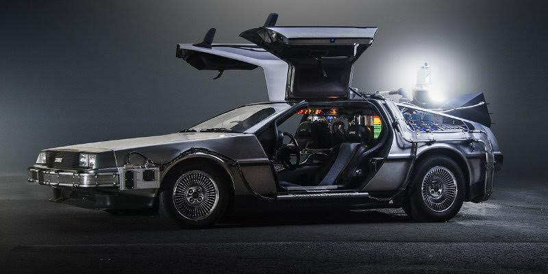 The DeLorean in Back to the Future