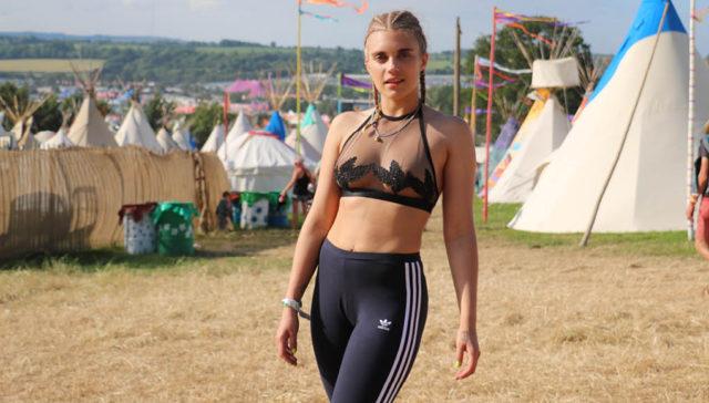 Tigerlily Taylor rocks Bluebella lingerie at Glastonbury