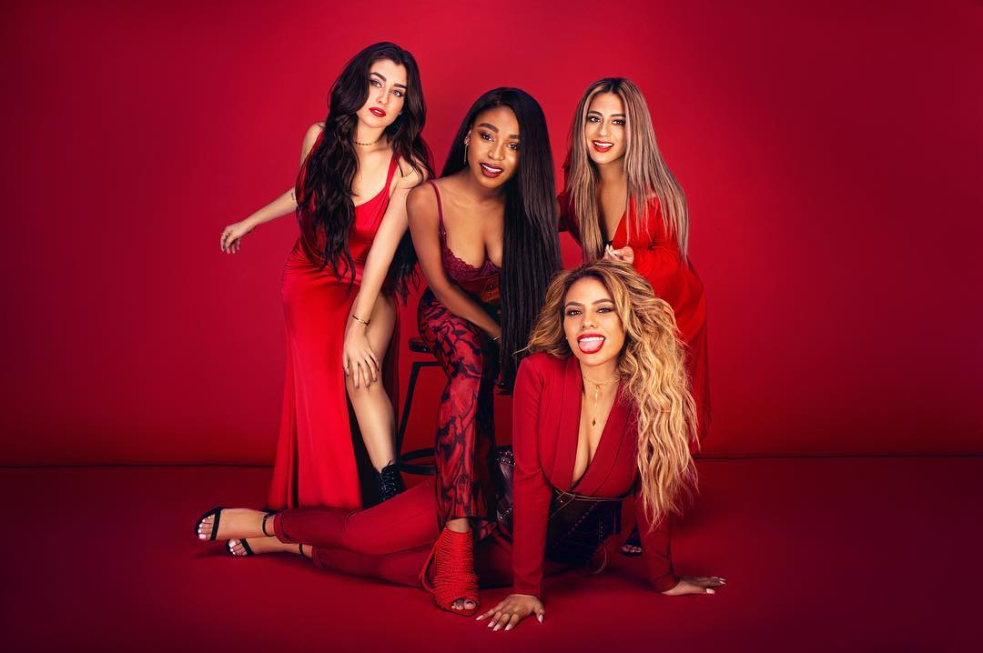 fifth harmony dressed sexy in red