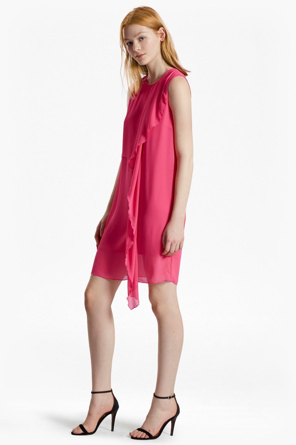 James sheer fluted front dress