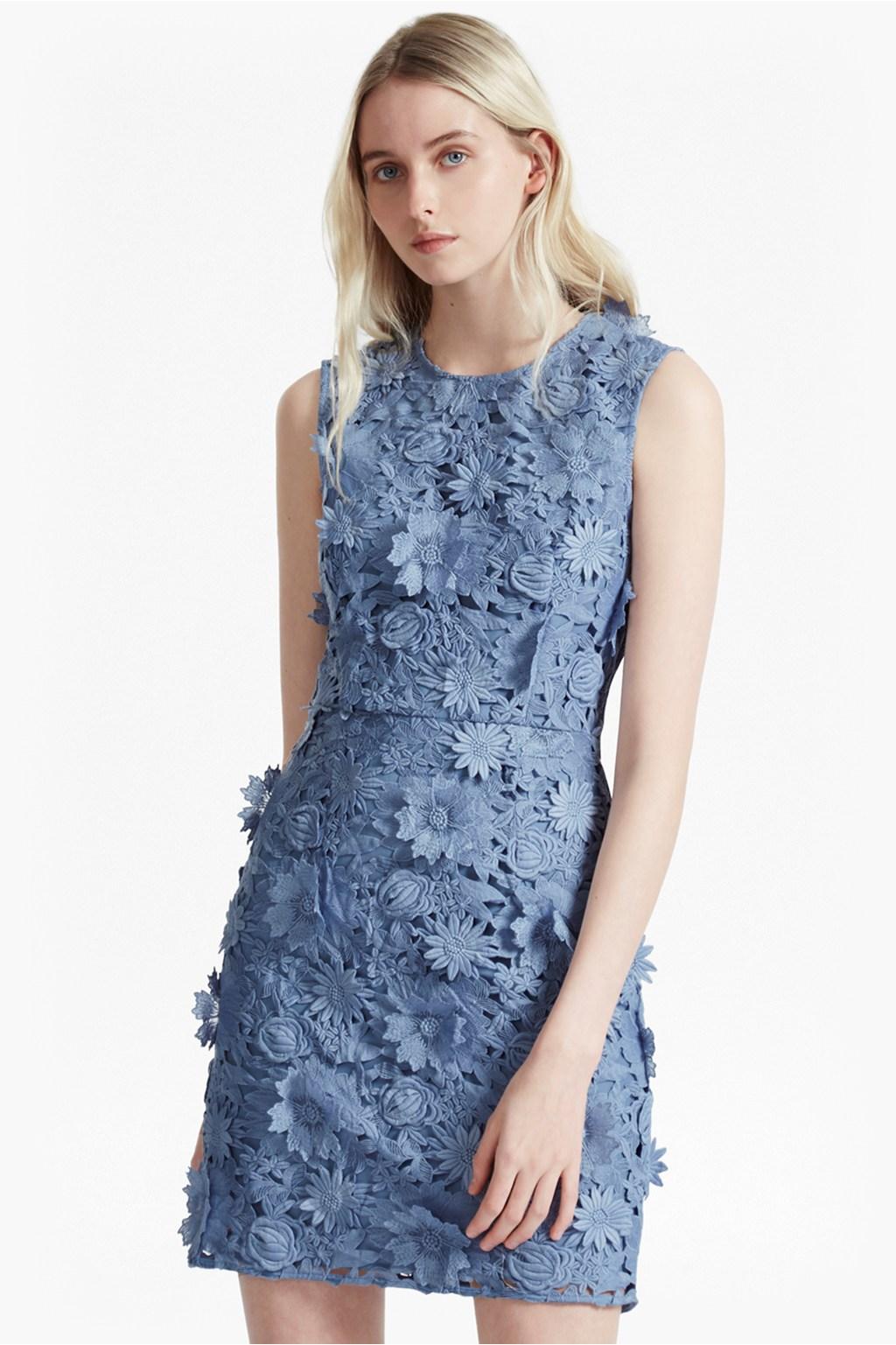 manzoni 3d floral lace dress