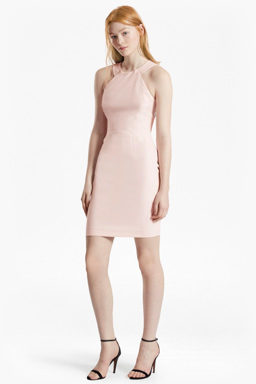modern kantha crepe halter neck dress