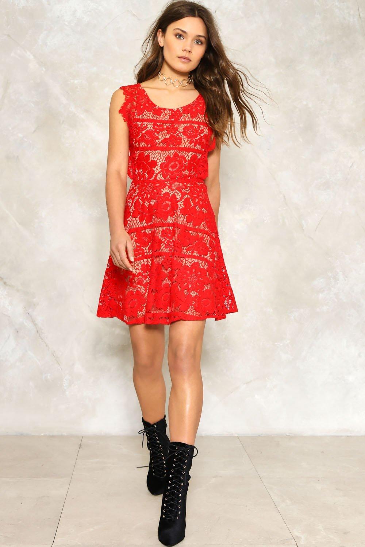 nastygal Alisha Lace Dress