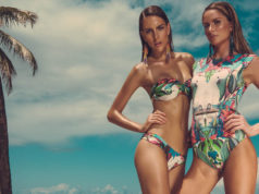 tropical print swimsuits bikini