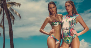 tropical print swimsuits bikini
