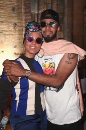 Alicia Keys and Swizz Beatz at BACARDÍ X The Dean Collection presents NO COMMISSION BERLIN (2)