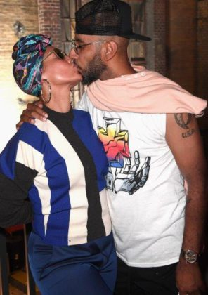 Alicia Keys and Swizz Beatz at BACARDÍ X The Dean Collection presents NO COMMISSION BERLIN
