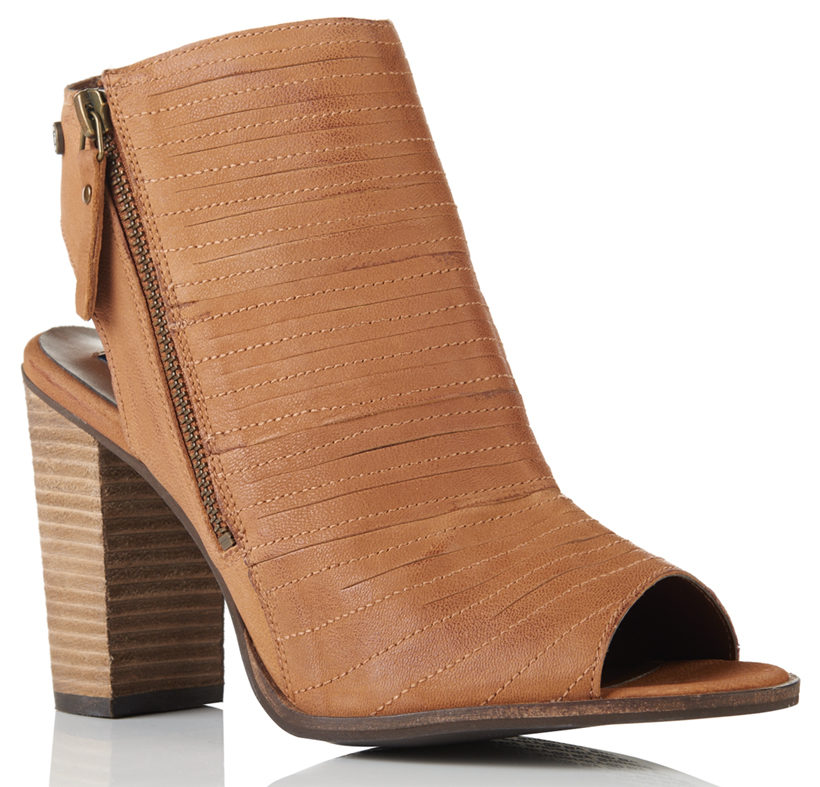 Cara Cut Peep Toe Heeled Shoes