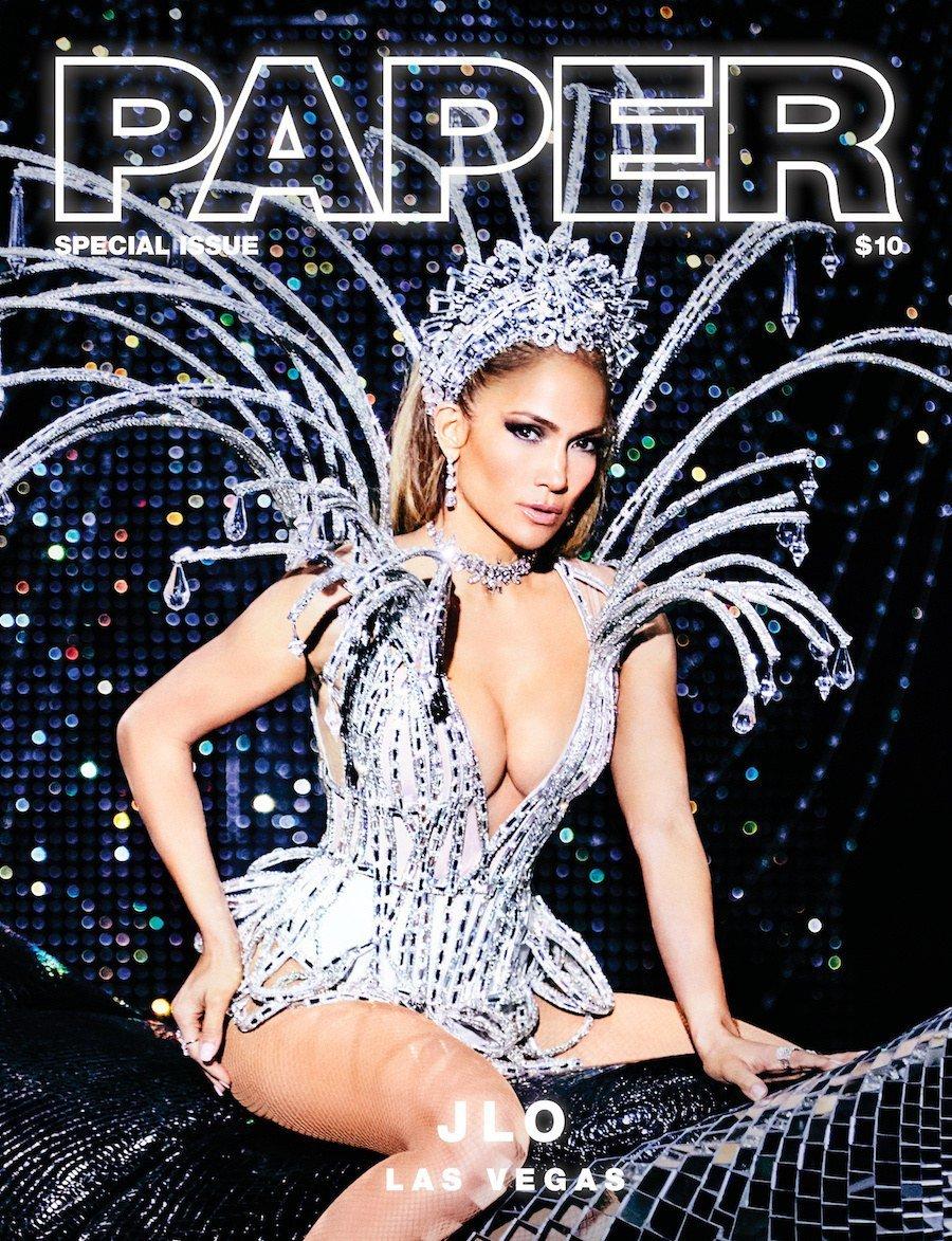 Jennifer Lopez on the cover of Paper Magazine