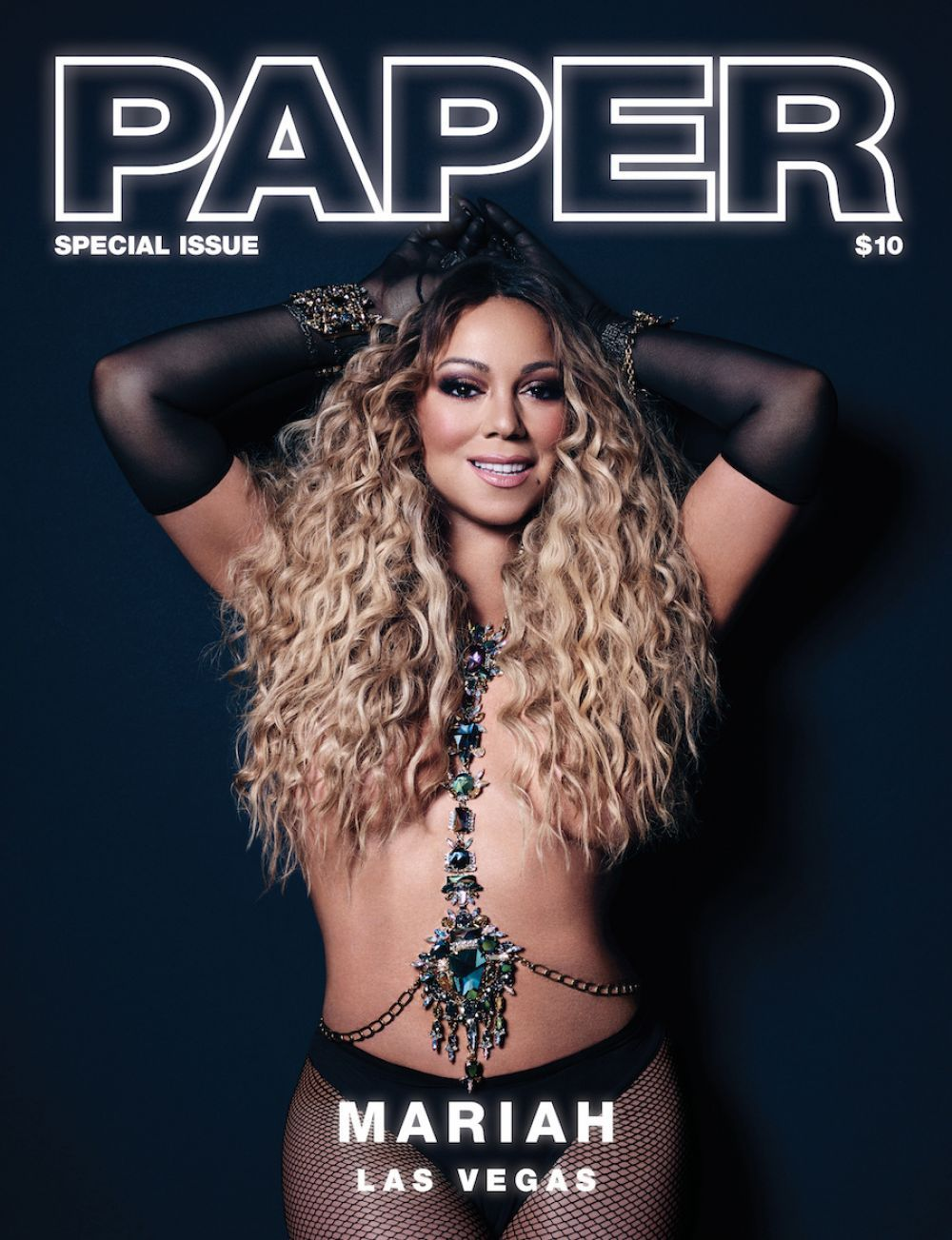 Mariah Carey on the cover of Paper Magazine