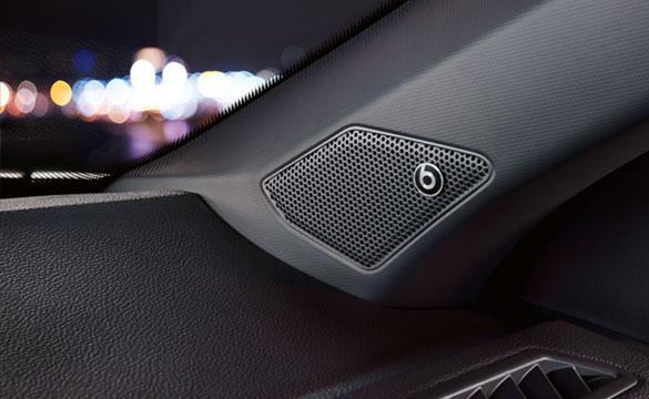 VW T-Roc beats sound system