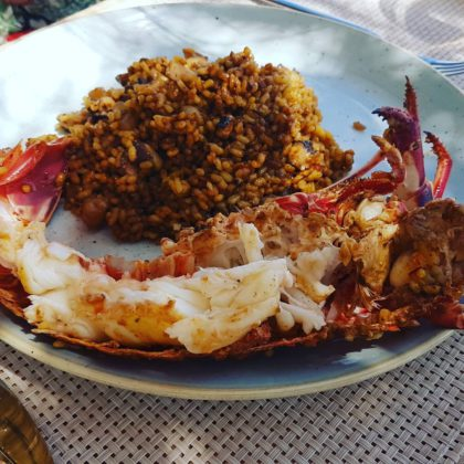 Hand picked Lobster Paella