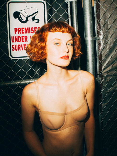 Kacy Hill strips for Playboy