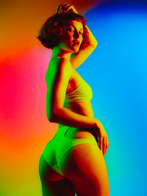 Kacy Hill strips for Playboy 9