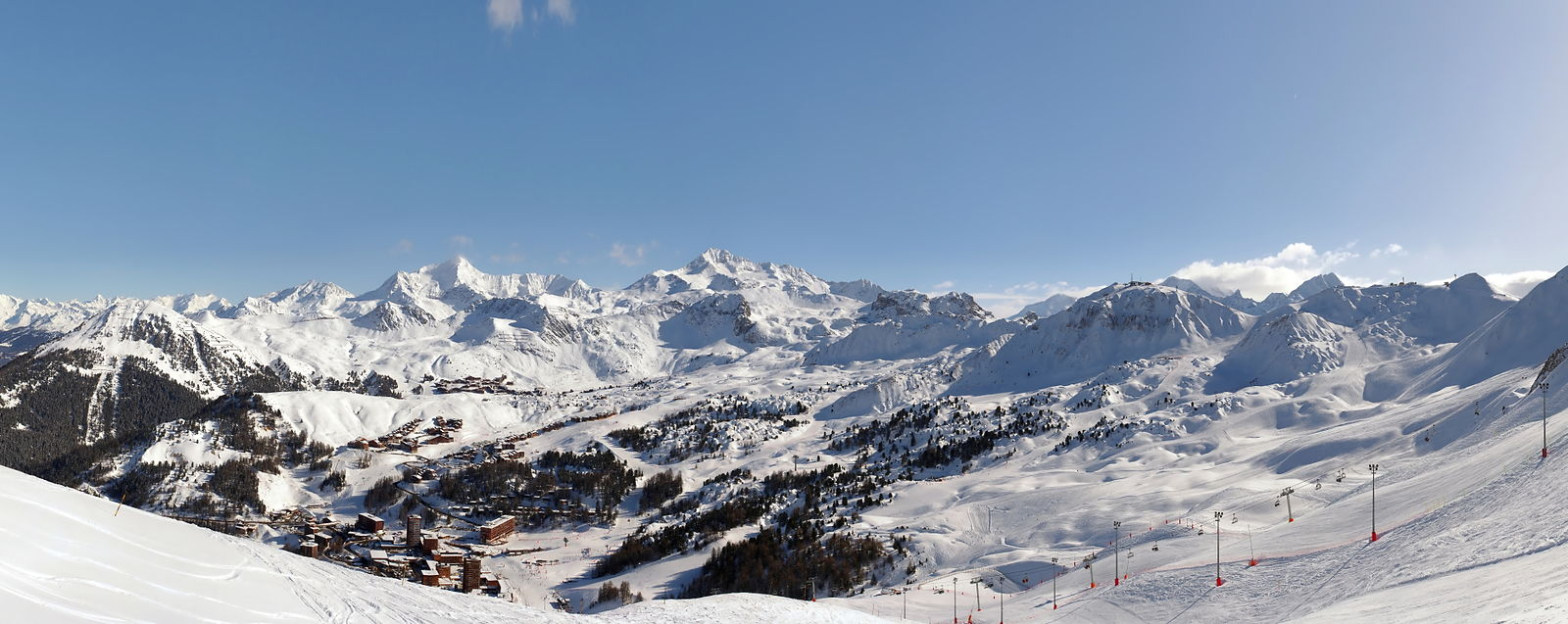 La Plagne Winter Panorama