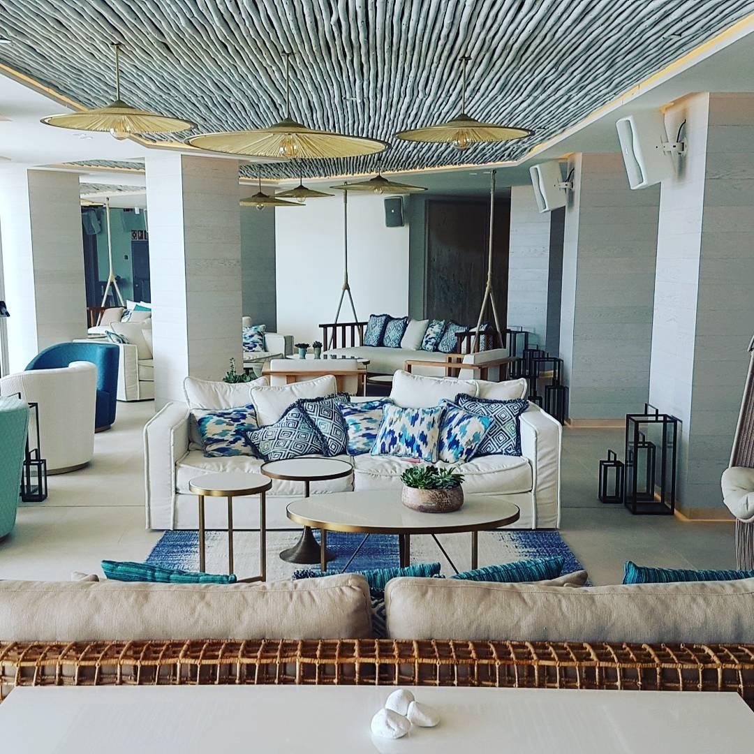 Nobu Hotel Ibiza Bay relaxing lobby area