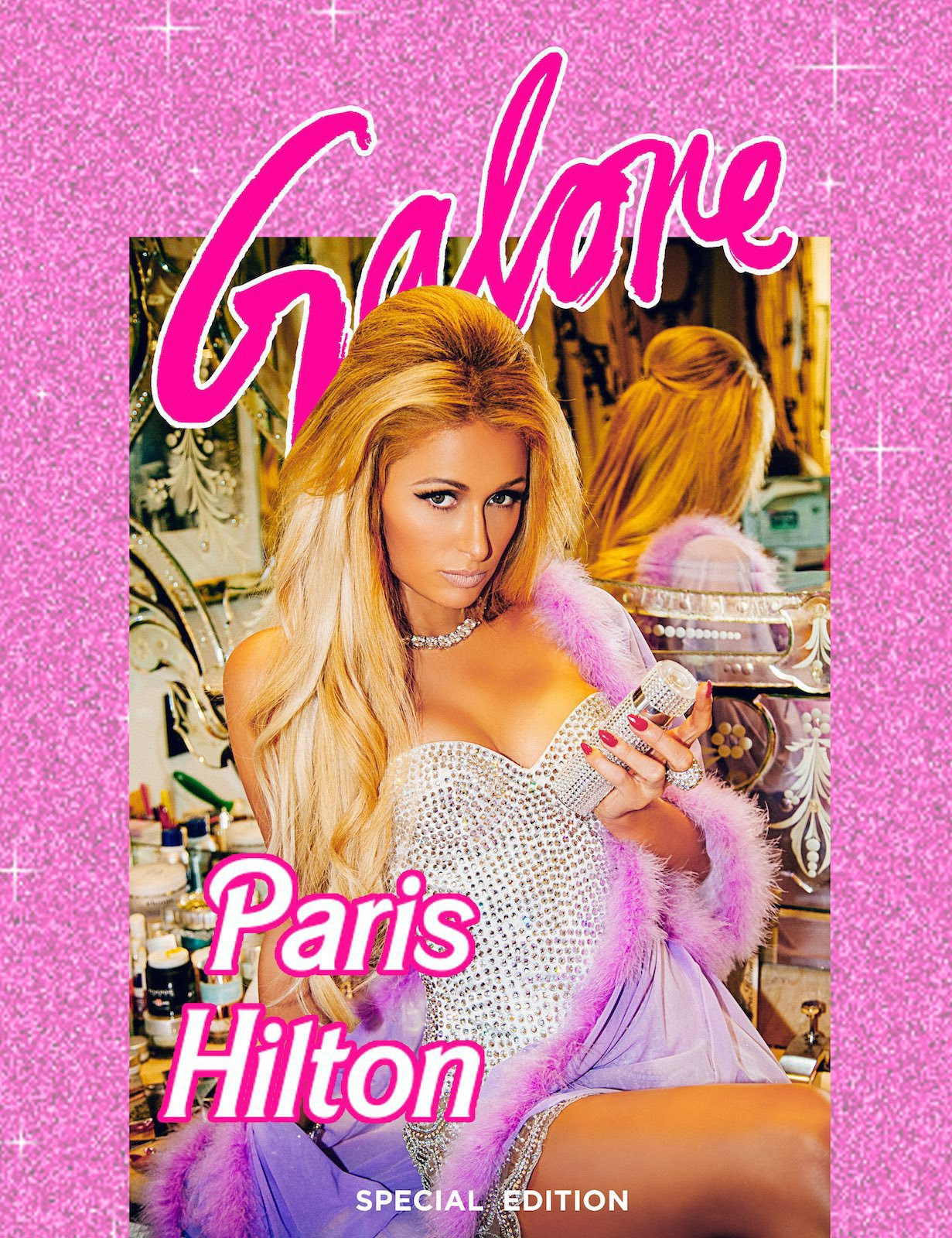 Paris Hilton on the cover of Galore magazine