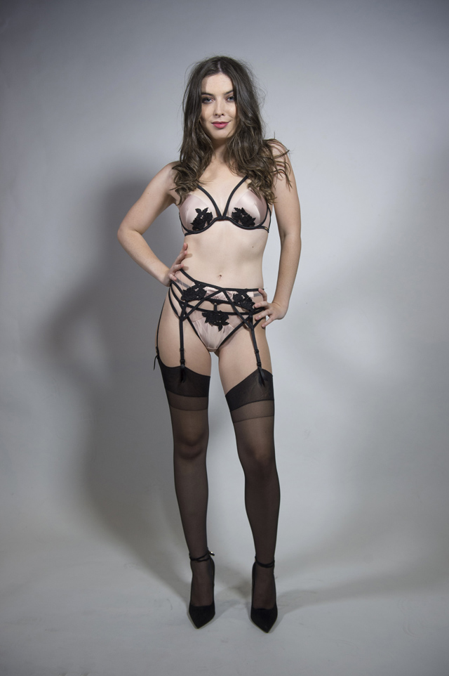 Student Rachel Atherley-King from Bluebella's Dare To Bare campaign