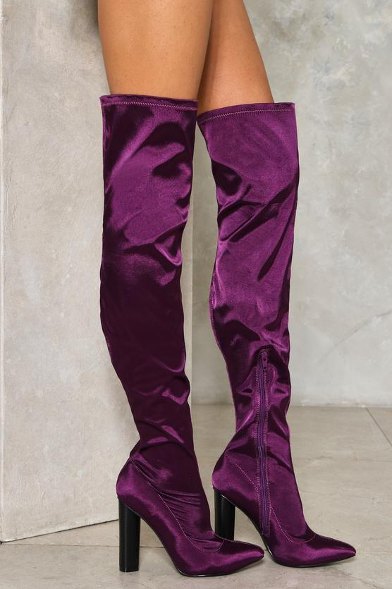 That's Rich Over-the-Knee Satin Boot