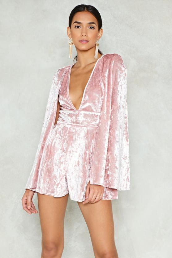Time Flies Crushed Velvet Romper