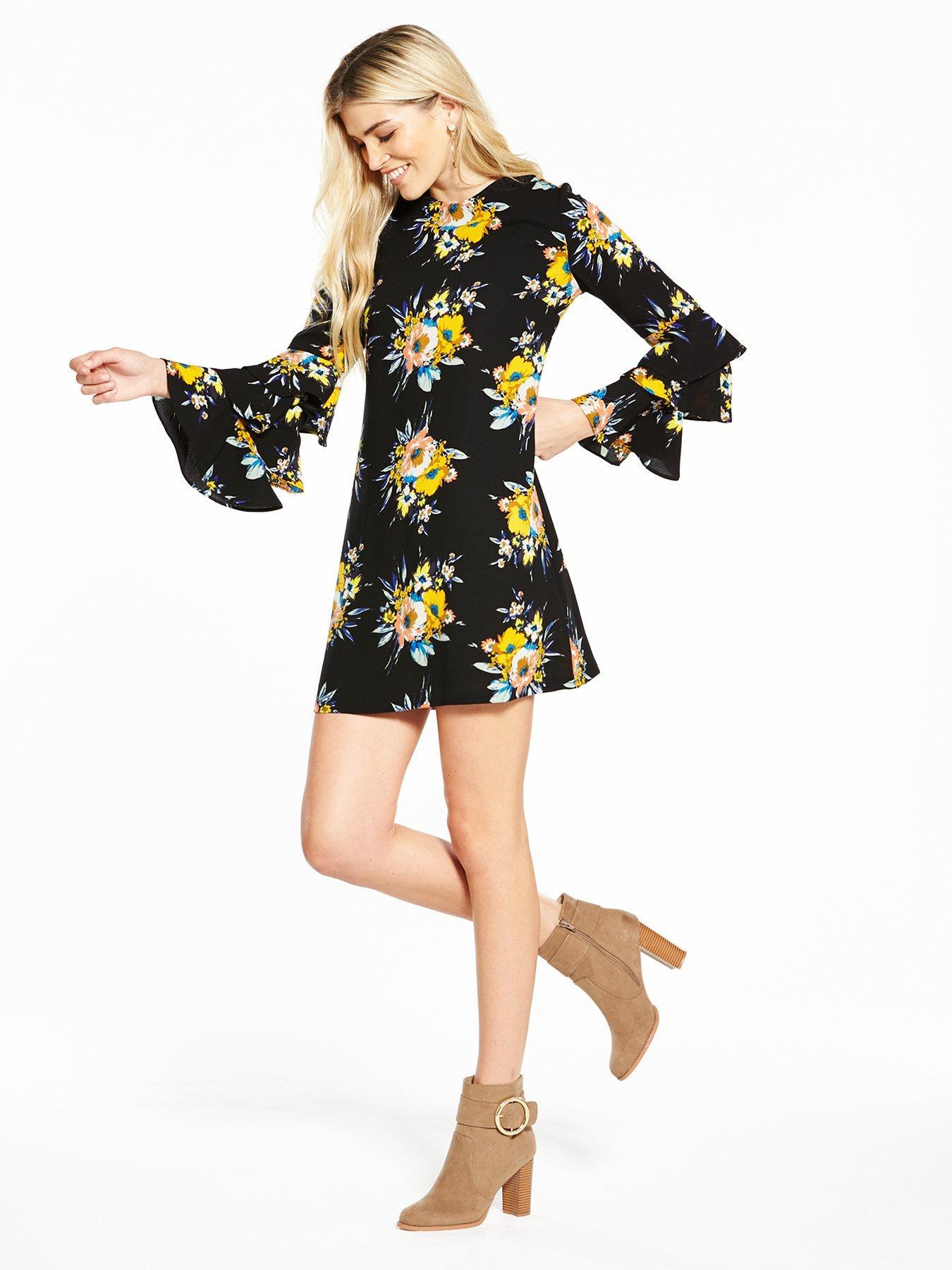 V by Very Frill Sleeve Tunic Dress