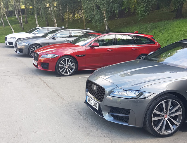 The lineup - Jaguar XF Sportbrake ready for our disposal