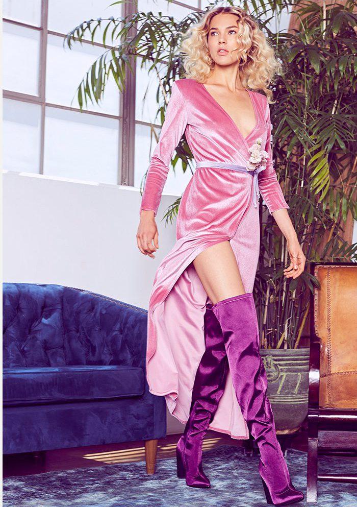 nastygal velvet dresses