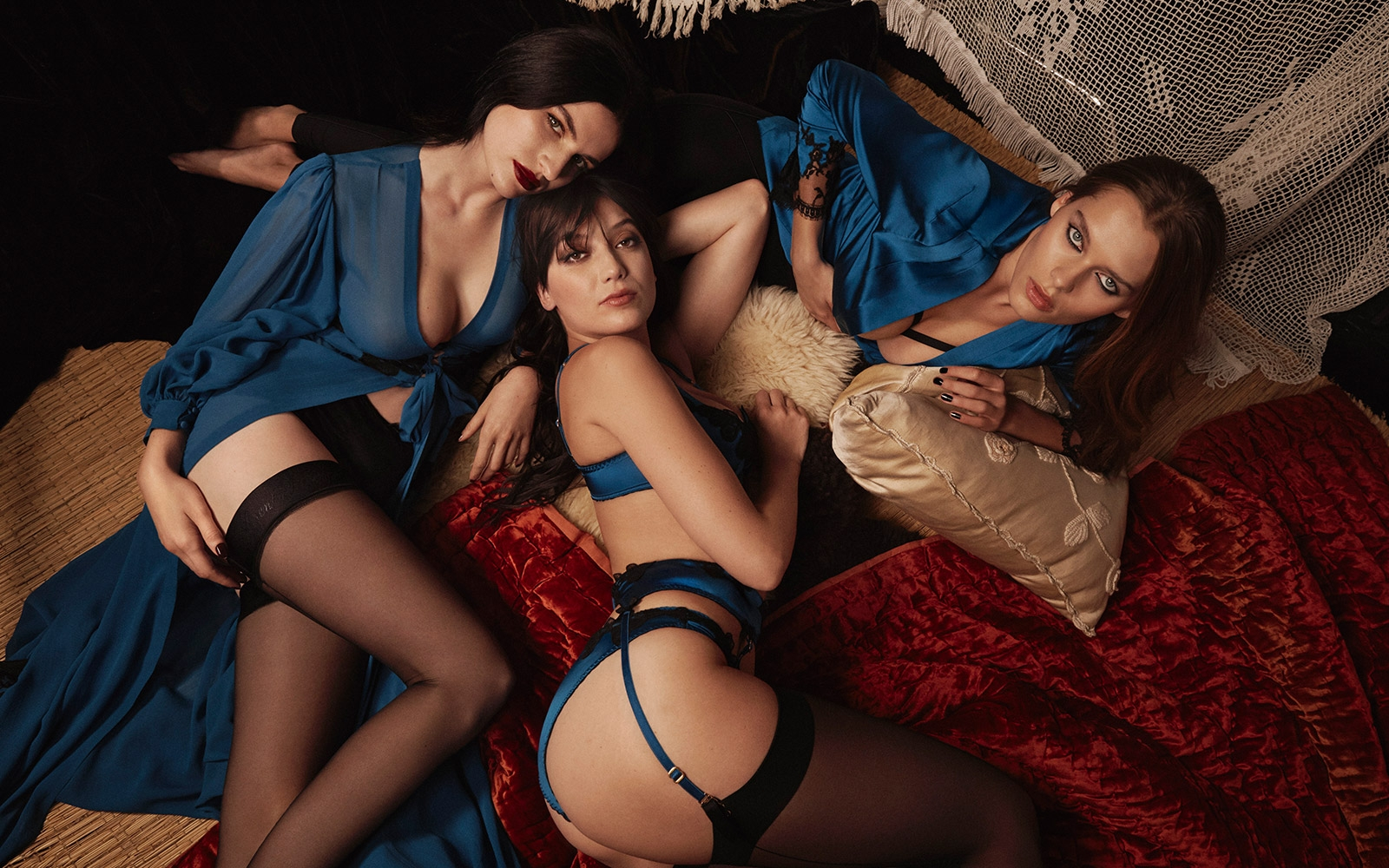 Autumn Winter lookbook from Agent Provocateur starring Daisy Lowe, Tali Lennox and Solveig Mørk Hansen