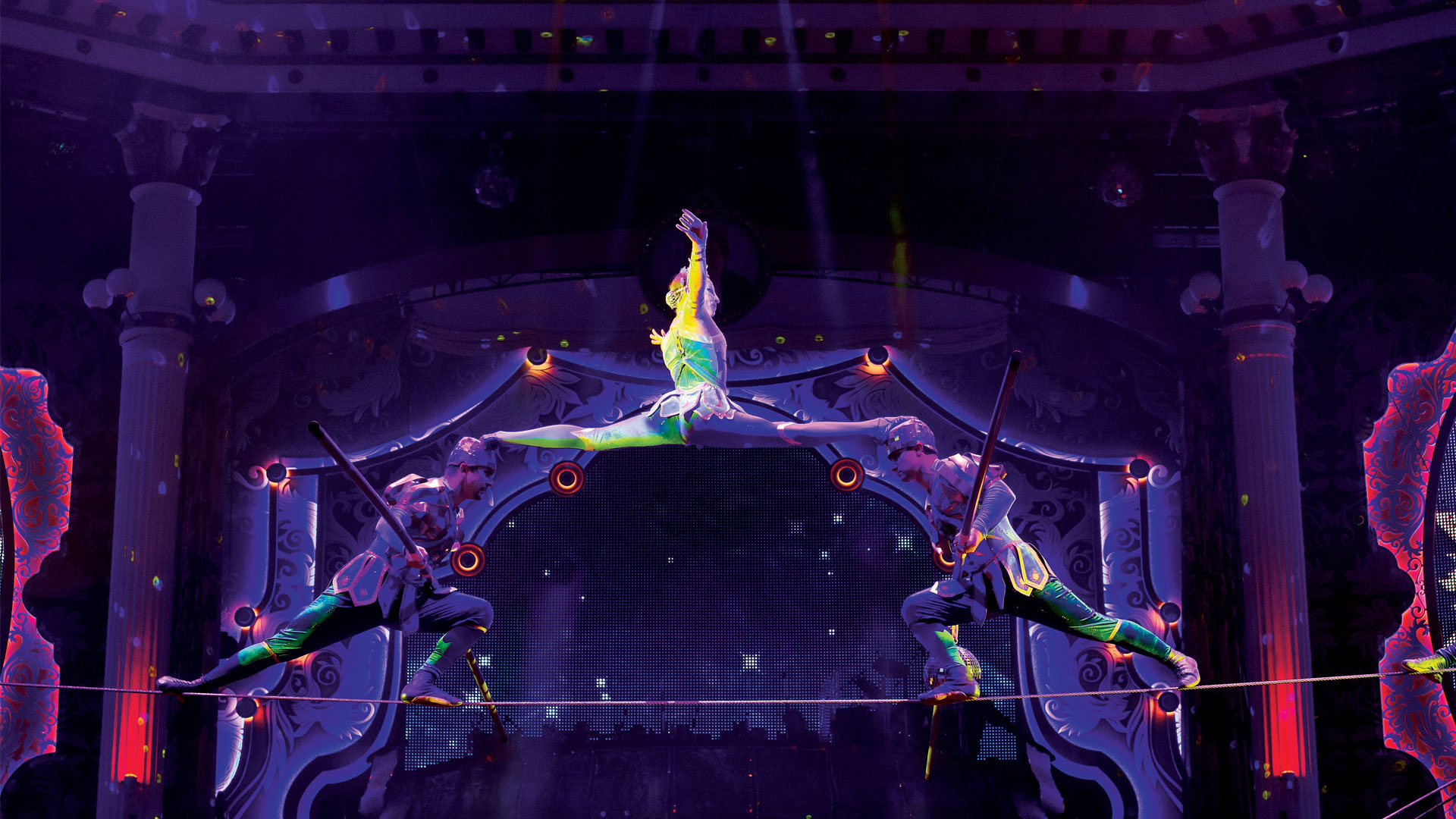 Highwire Slide at the Moscow State Circus