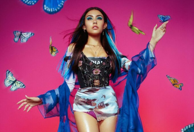 Madison Beer strips to her underwear for Galore Magazine