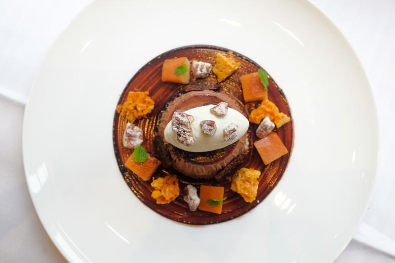 Caramelia chocolate pannacotta