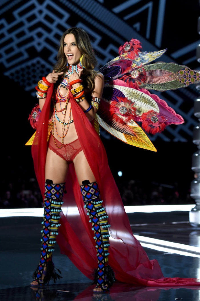 Alessandra Ambrosio walks the 2017 Victoria's Secret Fashion Show
