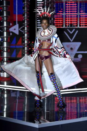 Amilna Estevao walks the 2017 Victoria's Secret Fashion Show