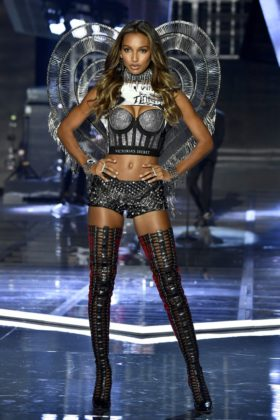 Angel Jasmine Tookes walks the 2017 Victoria's Secret Fashion Show