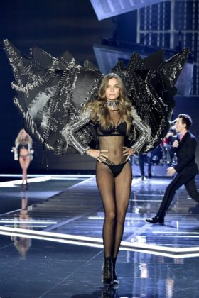 Angel Josephine Skriver walks the 2017 Victoria's Secret Fashion Show