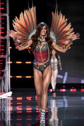 Angel Taylor Hill walks the 2017 Victoria's Secret Fashion Show