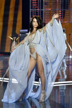 Bella Hadid walks the 2017 Victoria's Secret Fashion Show