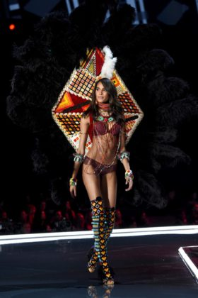 Cindy Bruna walks the 2017 Victoria's Secret Fashion Show