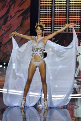 Dilone walks the 2017 Victoria's Secret Fashion Show