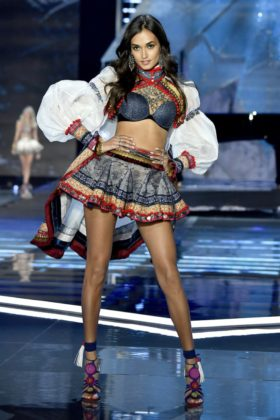 Gizele Oliveira walks the 2017 Victoria's Secret Fashion Show