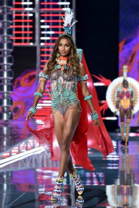 Jasmine Tookes walks the 2017 Victoria's Secret Fashion Show