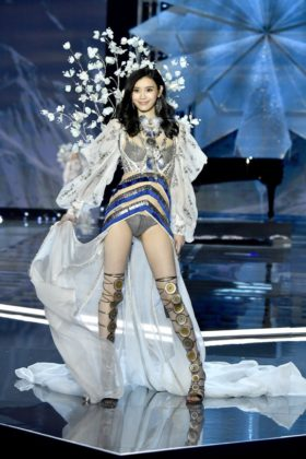 Ming Xi walks the 2017 Victoria's Secret Fashion Show
