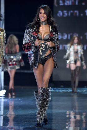 Model Cindy Bruna walks the 2017 Victoria's Secret Fashion Show