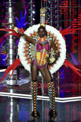 Model Grace Bol walks the 2017 Victoria's Secret Fashion Show