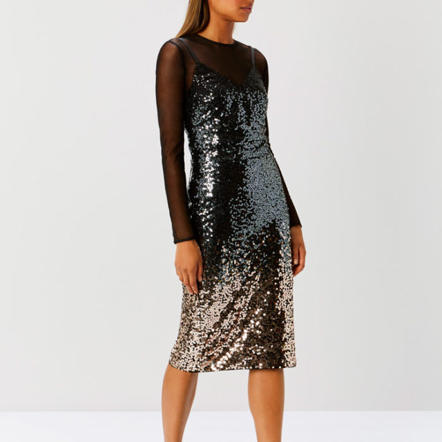 Gisella Ombre Sequin Dress